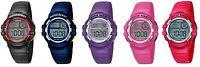 Lorus Digital Chronograph Kids / Children Watch Red, Blue, Black, Pink, Purple
