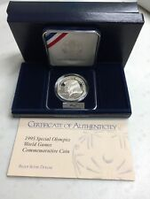 1995 SPECIAL OLYMPICS WORLD GAMES PROOF SILVER DOLLAR COMMEMORATIVE COIN