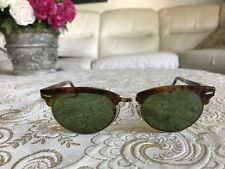 Authentic Vintage B&L Ray Ban Clubmaster Tortoise W1265 G15 Lense.......NOS