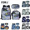 Cool Whale Print Backpack Boys Girls School lunch Pen Bag Laptop Travel Rucksack
