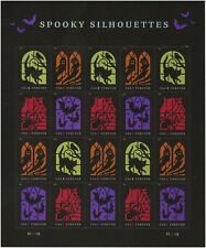 US 5420-5423 5423a Spooky Silhouettes forever sheet (20 stamps) MNH 2019
