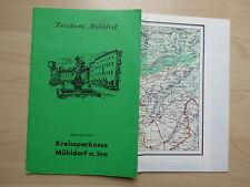 Kreiskarte Mühldorf am Inn, überreicht durch Kreissparkasse, um 1960