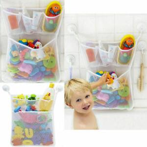 Bag Mesh Storage Bath Kids Shower Toy Baby Bathroom Holder Organizer Basket