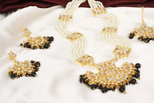 Necklace Earrings Gold Bollywood Jewelry Indian Traditional Black Fashion Jhumki