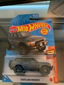 2021 hot wheels #226 hw hot trucks 7/10 toyota land cruiser 80 dark gray