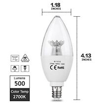 Candle Led Light Bulb 6w 60w Equivalent Daylight Warm White For Ceiling Fan
