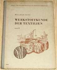 Willmar Senf - WERKSTOFFKUNDE DER TEXTILIEN Band 1 von 1954 - Weberei Weben - HC