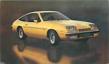 1977 CHEVROLET MONZA 2+2 HATCHBACK COUPE AUTOMOBILE ADV CHROME POSTCARD