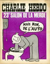 """""""CHARLIE HEBDO N°99 du 9/10/1972"""" WOLINSKI : 23e SALON DE LA MERDE (NON L'AUTO)"""
