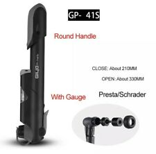 GIYO GP-041S Bike Bicycle Mini Pump Presta&Schrader Air Release With Gauge