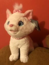 """Disney Authentic Aristocats Marie White Cat Big Plush Soft Toy Doll 12"""" New"""