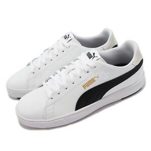 Puma Serve Pro Lite White Black Gold Men Unisex Classic Casual Shoes 374902-08