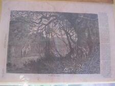 Vintage Print,HUNTING THE GIRAFFE,Harpers,May 1869