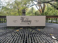 Rustic Country Beach Barn Wedding Directional Arrow Wooden Sign Decoration