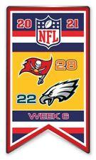 2021 Semaine 6 Bannière Broche NFL Tampa Bay Philadelphia Eagles Super Bol