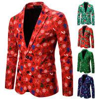 Men Christmas Xmas Blazer Unisex Funny Costumes Bachelor Party Suit Jacket S-2XL