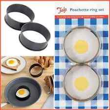 2 tala non stick egg poachette anneaux revêtement crumpets cheesecake braconnier cuisine