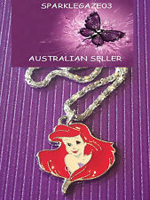 BRAND NEW 2018 DISNEYS  LITTLE MERMAID HEAD WITH SILVER PLATED NECKLACE 62