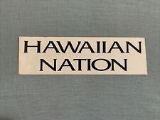 Vintage Hawaiian Nation Sticker Decal