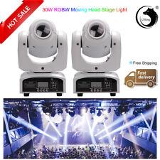 U`king 2PCS 30W RGBW LED Moving Head Stage Lighting DMX512 DA DISCOTECA DJ PARTY gobo