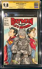 ALEX KOTKIN ORIGINAL Signed Sketch Art CGC SS 9.8 SUPERMAN BATMAN JUSTICE LEAGUE