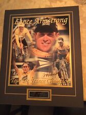 LANCE ARMSTRONG SIGNED TOUR DE FRANCE CHAMPION POSTER PICTURE FOUR TIME