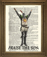 Lodare il sole: DARK SOULS dizionario stampa MURO PER APPENDERE, xbox, ps3 CAVALIERE DELL' ARTE
