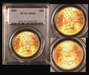 1899  $20 PCGS MS 62 Liberty Double Eagle