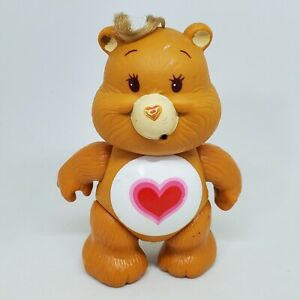 Vintage Care Bears Poseable Figure Tenderheart Bear 1983 Kenner Brown Heart