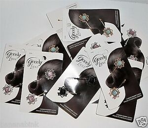 8 pk Lot Goody Luxe Cassidy Bobby Pin Slides Hair Clip Bobbies Jewel