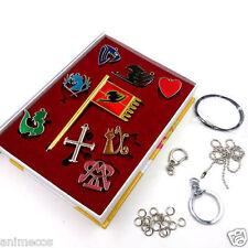 9Pcs Fairy Tail Lucy Heart Celestial Spirit Gate Key Chain Necklace Pendant