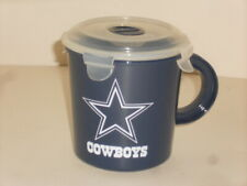 New Dallas Cowboys NFL Football Plastic 23.5 Oz. Soup Cup Or Coffee Mug