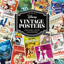Official Disney Vintage Posters 2020 Calendar, Large Wall Decoration Calendar