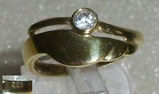Ring 333er Gold mit Zirkonia, Gr. 57  Ø 18,1 mm (da2884)