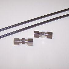 Bremsleitungsverbinder 6mm Schnellverbinder 2 Stück + 2 x 0,5 m Bremsleitung