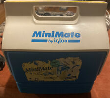 VINTAGE IGLOO MINI MATE COOLER LUNCHBOX 6 PACK BLUE MADE IN USA