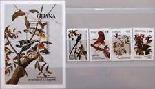 Ghana 1985 1107-10 bloque 119 980-984 Audubon pintor investigadores birds pájaros mnh