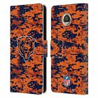 OFFICIAL NFL CHICAGO BEARS GRAPHICS LEATHER BOOK WALLET CASE FOR MOTOROLA PHONES