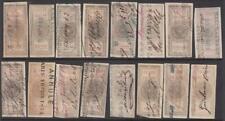 France Commerce Revenues Etoile Yvert #EC76//100 16 used stamps 1872 cv $333