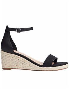 WITCHERY Ladies Size 41 Black Espadrille Wedge Shoe  RRP $130