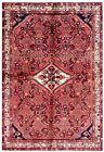 Hand Knotted Wool Red Ivory Nomadic Hamedan Tribal Oriental Rug Carpet 5 x 7