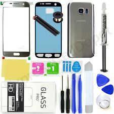 For Samsung Galaxy S7 G930 -OEM Silver- Front Screen Glass Back Replacement Kit