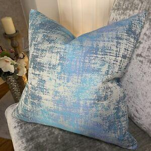 "Luxury Cushion Cover 18"" Miami Fabric , Fibre Naturelle Unique Blue Colour"