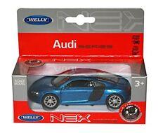 Audi R8 Coupe V10 2009 in Blue - 1:34 Scale Car Nex Die Cast Model Car - Toy Car