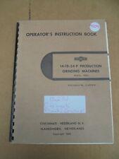 CINCINNATI NDO PRODUCTION GRINDING MACHINE OPERATOR'S INSTRUCTION BOOK