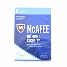 McAfee Internet Security 1 Year 10 Devices Keycard MIS17ETG0RAA 2017 New