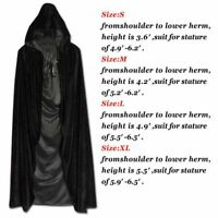S-XL Halloween Cloak Costume Witch Hooded Robe Party Cosplay Long Fancy Dress