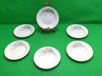 Royal Stafford Purple Flowers Side Plates x 6