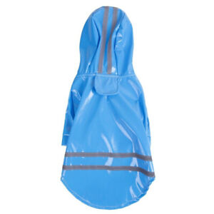 Pet Dog Waterproof Hooded Raincoat Cat Rain Coat Jacket Puppy Clothes Costume