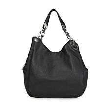 Michael Kors Fulton Leather Hobo Bag - Black